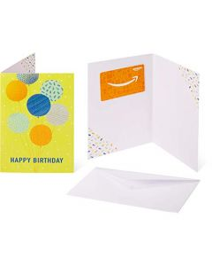 Gift Card in a Greeting Card Gift Amount: 50 | Design Name: Birthday Balloons