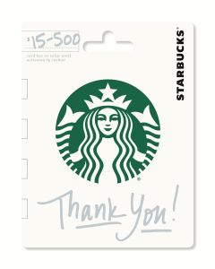Starbucks $25 Gift Card Thank You
