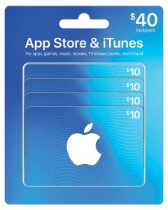 App Store & iTunes 4 x $10 Gift Cards Multipack of 4
