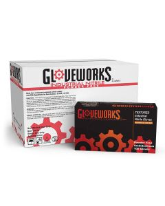 Gloveworks Industrial Blue Nitrile Gloves - 5 mil Latex Free Powder Free Disposable Small INPF42100 Box of 100