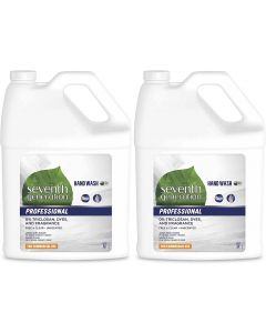 Seventh Generation Professional Liquid Hand Wash Soap Refill Free & Clear Unscented 128 fl oz (Pack of 2)