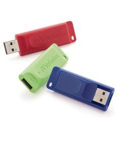 Verbatim 32GB StorenGo USB Flash Drive 32 GB USB Blue, Green, Red 3/Pack DRIVE RED BLUE GREEN