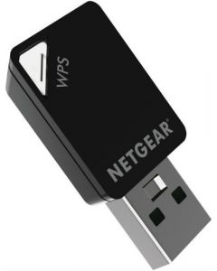 Netgear® A6100 AC600 Dual Band 2.4/5GHz Wireless-AC 802.11 a/b/g/n/ac USB Adapter (A6100-100PAS)