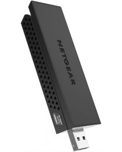 Netgear® A6210 AC1200 Dual Band 2.4/5GHz Wireless-AC 802.11 a/b/g/n/ac USB Adapter (A6210-100PAS)