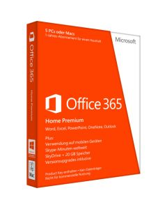 Microsoft Office 365 Home 32/64-bit Subscription License 5 PC and Mac in One Household 1 Year Download All Languages PC Intel-based Mac