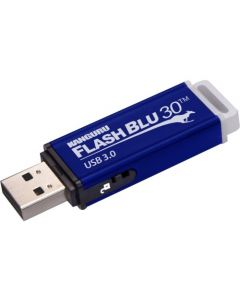 Kanguru FlashBlu30 with Physical Write Protect Switch SuperSpeed USB3.0 Flash Drive 16 GB Write Protection Switch, Shock Resistant, ReadyBoost, TAA Compliant 3.0 PHYSICAL WRITE PROTECT SWITCH
