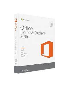 Microsoft Office 2016 Home & Student License 1 License Non-commercial Download All Languages Intel-based Mac