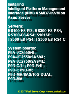 Installing Intelligent Platform Management Interface (IPMI) ASMB7-iKVM on Asus Server