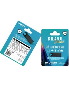 Hyundai Bravo Deluxe BLACK Keychain USB 2.0 Flash Drive 32GB Metal Read Speed: Up to 10MB/s, Write Speed: Up to 3MB/s, Generation: 2.0 , Operation Temperature: 32° 113° F (0° 45 °C), Storage Temperature: 14° 158° F(-10 °C 70 °C)