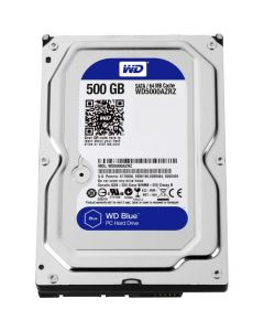 """Western Digital Blue WD5000AZRZ 500 GB 3.5"""" Internal Hard Disk Drive (HDD) SATA III 6.0Gb/s 5400 RPM 64 MB (20PK)"""