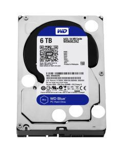 "Western Digital Blue WD60EZRZ 6 TB 3.5"" Internal Hard Disk Drive (HDD) SATA III 6.0Gb/s 5400 RPM 64 MB (20PK)"