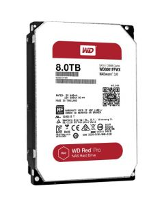 "Western Digital Red Pro WD8001FFWX 8 TB 3.5"" Internal Hard Disk Drive (HDD) SATA III 6.0Gb/s 7200 RPM 128 MB (20PK)"