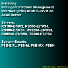 Installing Intelligent Platform Management Interface (IPMI) ASMB5-iKVM on Asus Server
