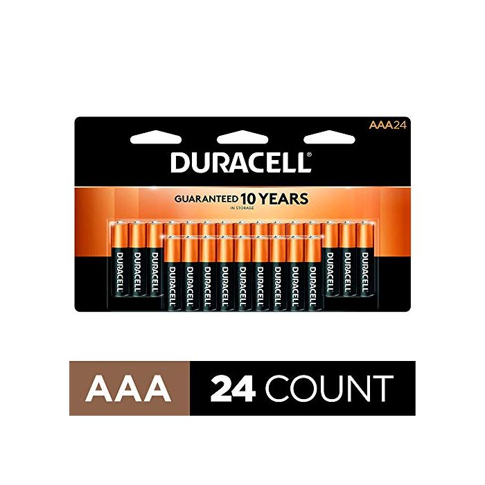 Duracell 10 count all-purpose Triple A battery for household and business long lasting CopperTop AAA Alkaline Batteries