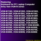 Replacing Keyboard for Sony Vaio VGN-N series