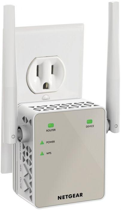 Netgear® EX6120 AC1200 Dual Band 2 4/5GHz Wireless-AC 802 11 b/g/n/ac WiFi  Range Extender
