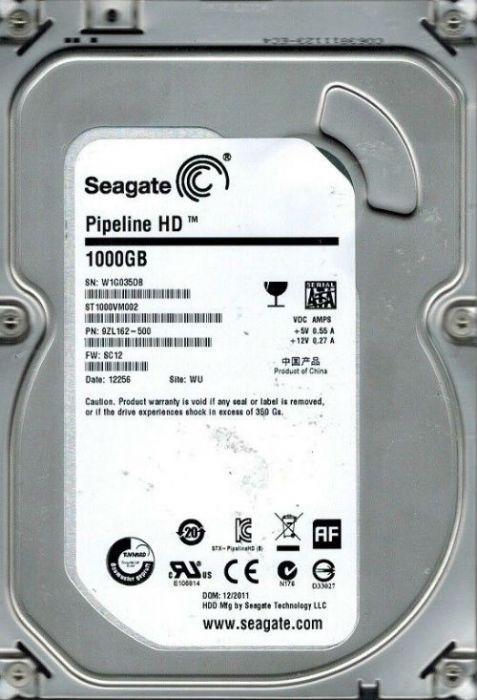 Seagate Video 3 5 HDD ST1000VM002 1 TB 3 5 Internal Hard Disk Drive (HDD)  SATA II 3 0Gb/s 5900 RPM 64 MB (25PK)