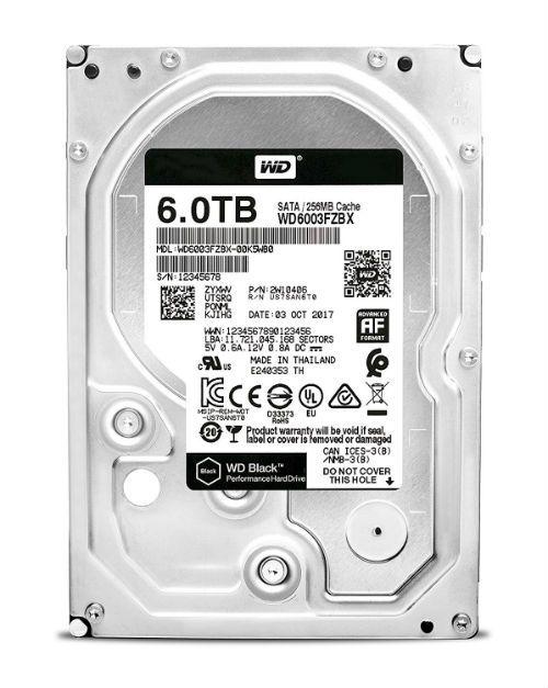 Western Digital Black Wd6003fzbx  5 Internal Hard Disk Drive Hdd Sata