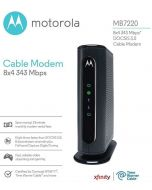 Motorola MB7220 DOCSIS 3.0 Cable Modem 343 Mbps Comcast Xfinity Time Warner Cable Spectrum Optimum