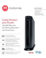 Motorola MG7550 DOCSIS 3.0 Cable Modem plus AC1900 Wi-Fi Router 686 Mbps Comcast Xfinity Time Warner Cable