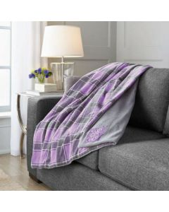 Sunbeam Microplush Heated Throw Hockey Fights Cancer 3 Hour (Automactic Shut Off) 3 Heat Settings Dryer Safe Washable Polyester 60X50 inches Purple 182709-000-RB06