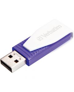 Verbatim 64GB Swivel USB Flash Drive Violet 64GB Violet 1pk Capless, Swivel SNG SWIVEL CAPLESS 49816
