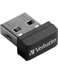 Verbatim 64GB Store n Stay Nano USB Flash Drive Black 64 GB 1 Pack STORE N STAY NANO SIZE 98365
