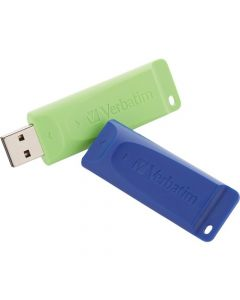 Verbatim 16GB Store n Go USB Flash Drive 2pk Blue, Green 16 GB USB Blue, Green 2/Pack DRIVE BLUE GREEN