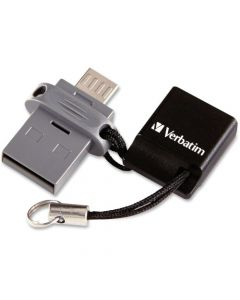 Verbatim 32GB Store n Go Dual USB Flash Drive for OTG Devices 32 GBMicro USB, USB 2.0 1 Pack FLASH DRIVE FOR OTG DEVICES