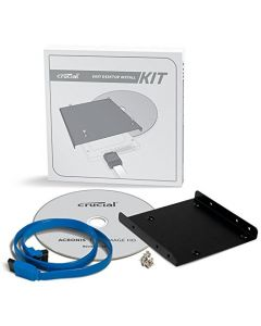 "Crucial Desktop Install Kit for Solid State Drive SSD 3.5"" Bay Adapter 2.5"" Internal/External CTSSDINSTALLAC"
