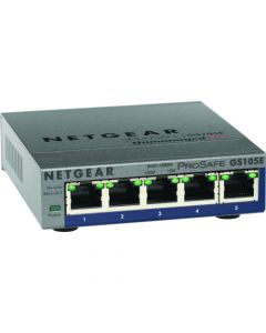 NETGEAR GS105E Plus Desktop 5-port Switch (GS105E-200NAS)