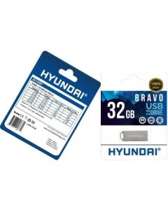Hyundai Bravo 2.0 USB Flash Drive 32 GB USB 2.0 Metal Silver FLASH DRIVE METAL