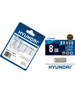 Hyundai Bravo 2.0 USB Flash Drive 8 GB USB 2.0 Metallic Silver FLASH DRIVE METAL