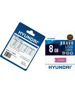 Hyundai 8GB Bravo USB 2.0 Flash Drive 8 GB USB 2.0 Pink 2.0 FLASH DRIVE 8GB PINK