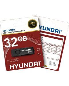 Hyundai USB 3.0 Flash Drive 32 GB USB 3.0 Black DRIVE BLK/NKL