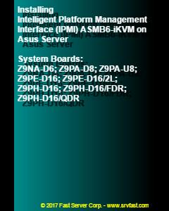 Installing Intelligent Platform Management Interface (IPMI) ASMB6-iKVM on Asus Server