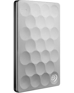 Seagate Backup Plus Ultra Slim 1TB USB 3.0 Portable External Hard Drive with Mobile Device Backup Model STEH1000100 (Platinum)