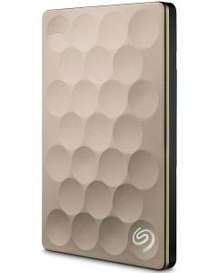 Seagate Backup Plus Ultra Slim 1TB USB 3.0 Portable External Hard Drive with Mobile Device Backup Model STEH1000101 (Gold)