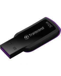 Transcend 32GB JetFlash 360 USB 2.0 Flash Drive 32 GB USB 2.0 Black, Purple Ergonomic, Capless