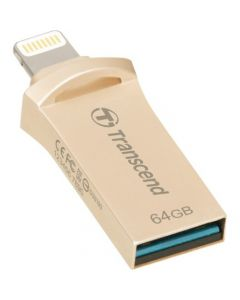 Transcend Mobile Storage for iOS Devices 64 GB USB 3.1, Lightning Gold DRIVE GOLD PLATING