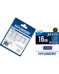 Hyundai Bravo Keychain USB 2.0 Flash Drive 16GB Blue Read Speed: Up to 10MB/s, Write Speed: Up to 3MB/s, Generation: 2.0 , Operation Temperature: 32° 113° F (0° 45 °C), Storage Temperature: 14° 158° F(-10 °C 70 °C) BLUE