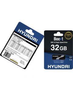 Hyundai 32GB Boost USB 3.0 Flash Drive 32 GB USB 3.0 Black, White 10Pack BLK/WHITE