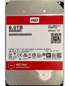 "Western Digital Red WD80EFAX 8 TB 3.5"" Internal Hard Disk Drive (HDD) SATA III 6.0Gb/s 5400 RPM 256 MB (20PK)"